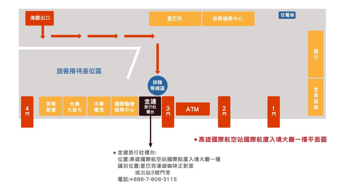 高雄小港機場取還機位置示意圖